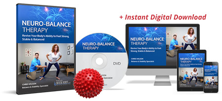 The physical DVD of Neuro-Balance Therapy, the spike ball, the downloadable digital version of Neuro-Balance Therapy and the bonuses